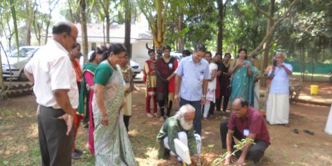 Planting of Ayurvedic medicinal plants on Dhanwantari day